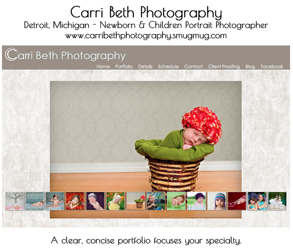 smugmug wordpress customization carri beth photography 8 Steps to Improve Your Photography Website