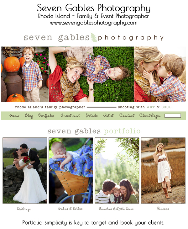 smugmug wordpress customization seven gables photography1 8 Steps to Improve Your Photography Website