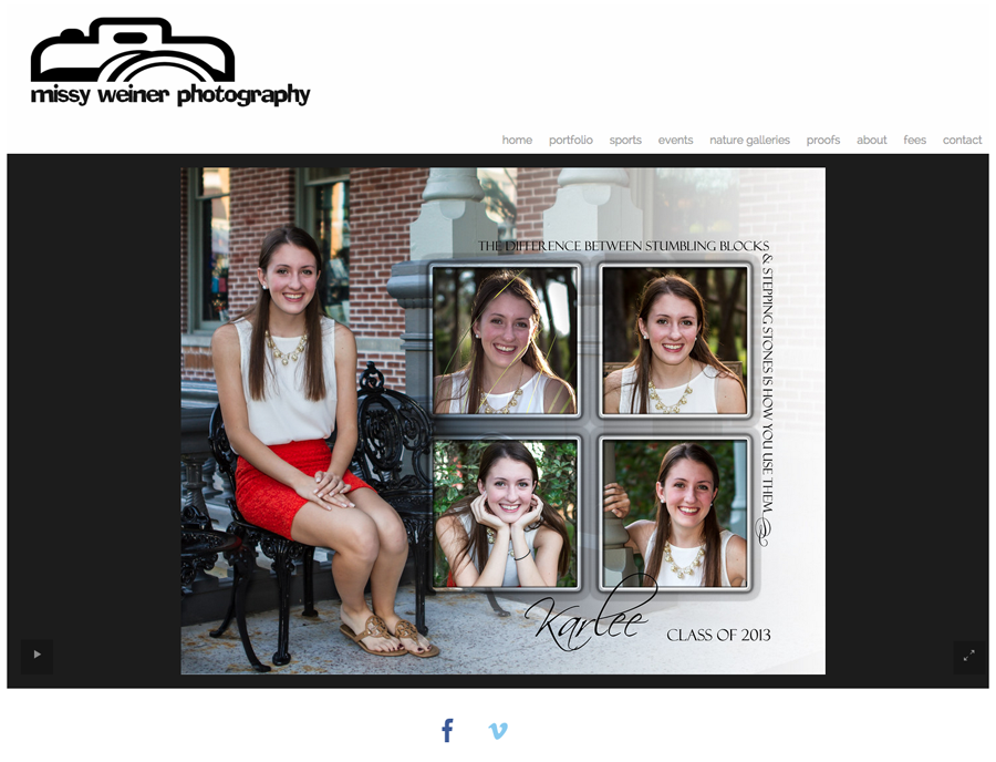 """I get my seniors by word of mouth and by donating a session with a few low res images at the high school benefit auctions. I set up the display at the auction with books, large prints, etc. but don't include them in the auction. I obviously try to use a senior from that particular school, if possible.""-Missy Weiner Photography (http://www.missyweinerphotography.com/)"