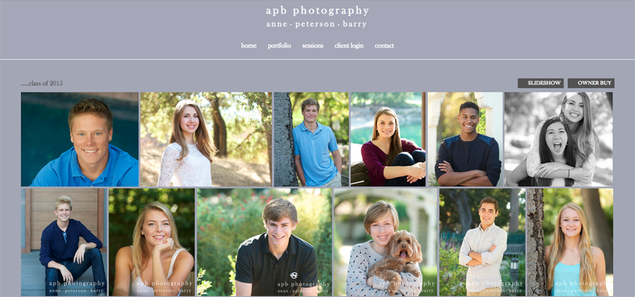 """Marketing:   Embrace Facebook and Instagram.    I give all my Seniors permission to post a shot from their gallery on Facebook or Instagram, as long as my watermark appears.  Each of these posts can reach hundreds of students, and they end up generating a significant portion of my work.""-abp photography (http://www.apbphotos.com/)"