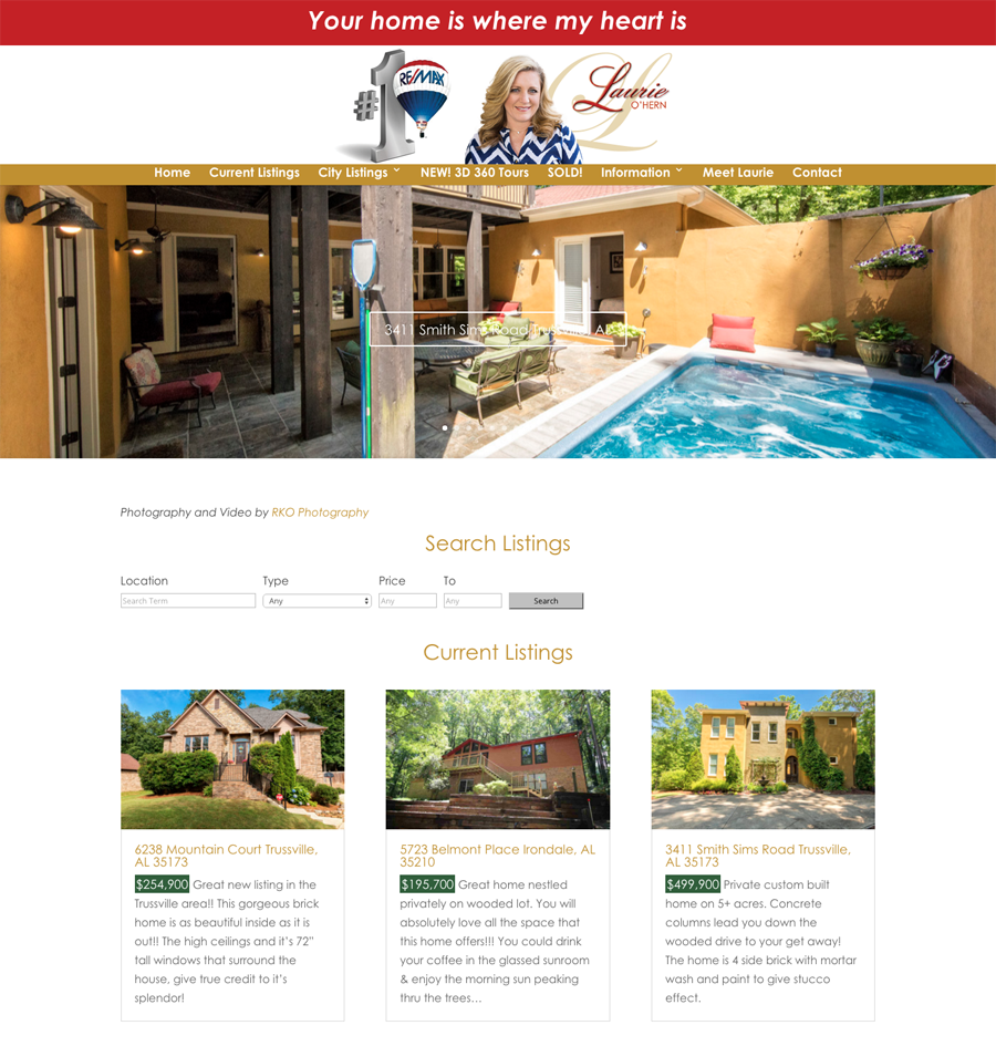 Laurie O'Hern of RE/MAX Marketplace Birmingham Alabama uses the technology to promote her listings